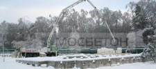бетон зима