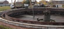 строительство отстойника сточных вод