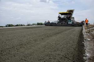 Дорожный бетон укладка