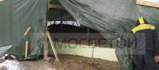 тент для бетон зимой